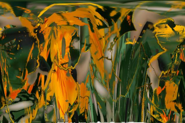jaune vert dans l'eau
