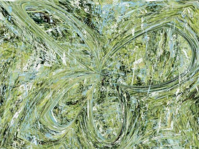 vert en pétale