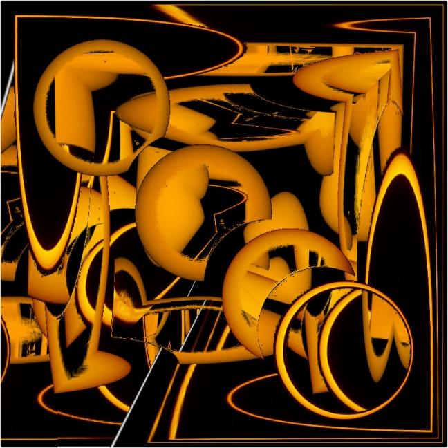 géométrie jaune mécanique