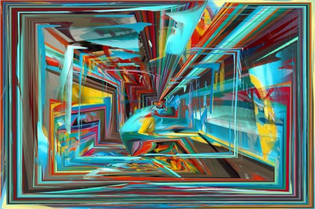 couloir coloré