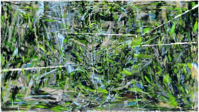eau verte avec trait