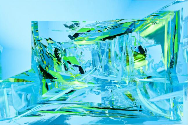 Vert en eau
